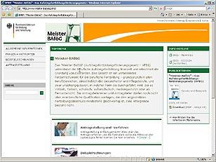 Relaunch Internetpräsenz Meister-BAföG 2007