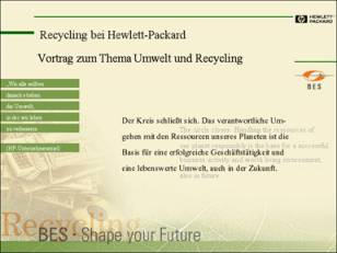 Corporate Design der Abteilung Business and Environmental Services