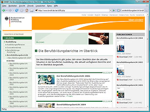 Berufsbildungsbericht Relaunch 2006