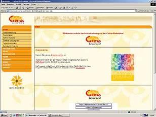 Caritas Werkstätten Internetpräsenz