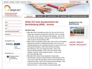 DEQA-VET: Deutsche Referenzstelle für Qualitätssicherung in der beruflichen Bildung