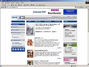 Internetpräsenz mit Shop GEHE POINT
