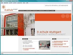 Internetpräsenz IT-Schule Stuttgart