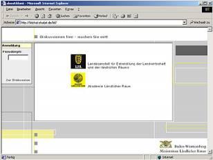 Internet-Chatplattform - Ministerium für Ernährung und Ländlicher Raum BW