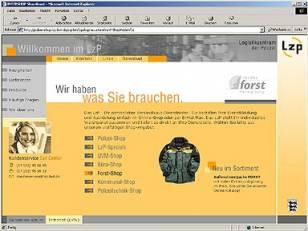 Gestaltung des Web-Shops im Intranet