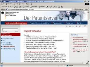 BMBF Patentserver