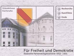 """CD-ROM zur badischen Parlamentsgeschichte """"Für Freiheit und Demokratie"""""""