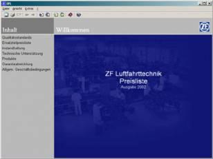 ZF Friedrichshafen - Katalogsoftware Luftfahrttechnik