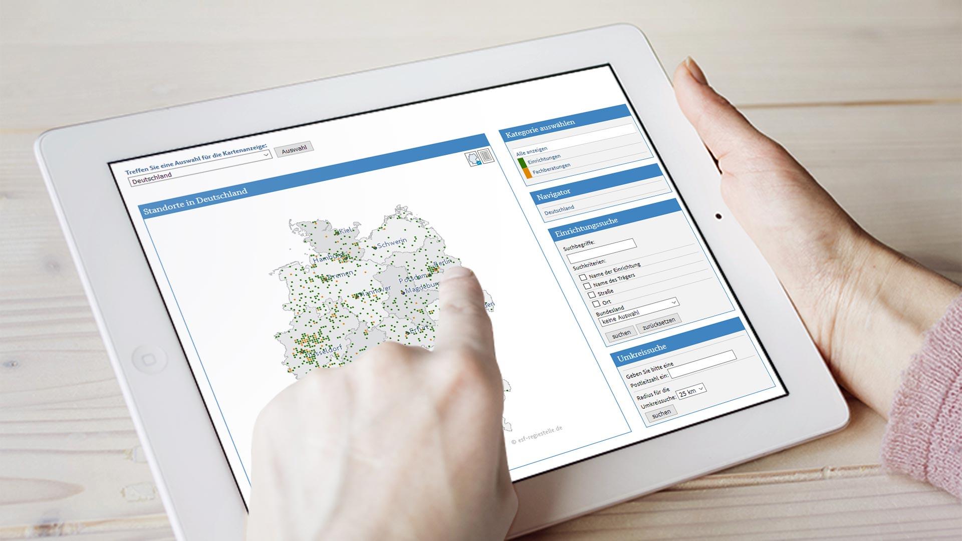 Online-Standortkarten
